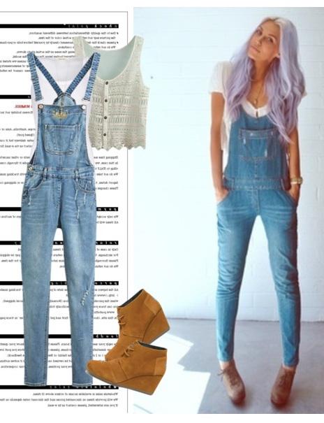 Women in denim overalls